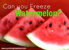 Can you freeze watermelon?  YES!  Here's how...