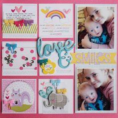 Bella Blvd Sweet Sweet Spring collection. Love & Smiles layout by creative team member Becki Adams.