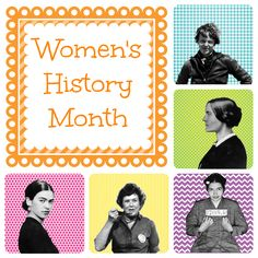 Here are some fun images to help celebrate Women's History Month!