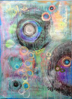 """'A Journey' by Laurie Maves    $250   18""""W x 24""""H x 0.1""""D   Original Art   http://vng.io/l/10BrxvE-1Q @VangoArt"""