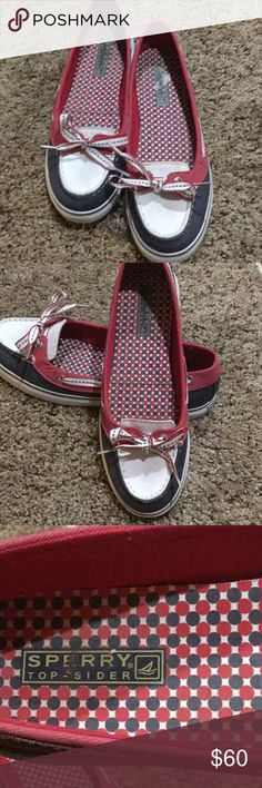 Patriotic sperry top-sider Very clean Sperry Top-Sider Shoes Flats & Loafers