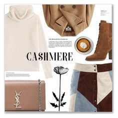 """""""Cozy Cashmere Sweater"""" by sanssoucistores ❤ liked on Polyvore featuring Sonia Rykiel, Uniqlo, Sans Souci, Michael Kors and Yves Saint Laurent"""