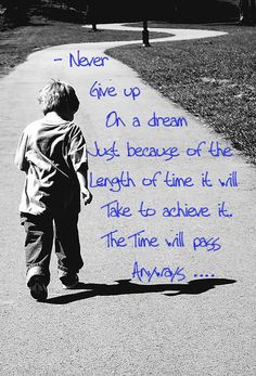 Never give up on a dream just because of the length of time it will take to achieve it. The time will pass anyway.