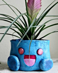I saw this while browsing deviantART, and it made me smile. I hope it makes you smile too! Machi-Ramen made this pot with paper clay and acrylic paint. [dA]