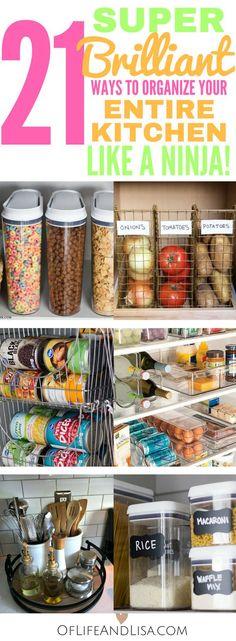21 Super Brilliant Ways to Organize Your Kitchen