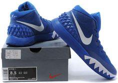b334408d58f3 Nike Kyrie 1 Wholesale Royal Blue White1 Jordan 1 Mid