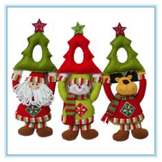 cuelga puertas navidad - Buscar con Google Felt Christmas Decorations, Christmas Fabric, Diy Christmas Ornaments, Christmas Projects, Vintage Christmas, Christmas Holidays, Merry Christmas, Xmas, Christmas 2017