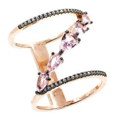 ZDR0546-RGM STERLING SILVER 925 MORGANITE PINK COLOR CZ RING
