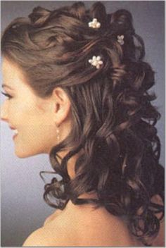 Half Up Half Down Hairstyles - Celebrities Half Up Hair Dos - Good Wedding Hairstyles Half Up Half Down, Wedding Hair Down, Wedding Hairstyles For Long Hair, Wedding Hair And Makeup, Bride Hairstyles, Down Hairstyles, Cute Hairstyles, Bridal Hair, Half Updo