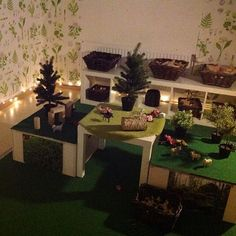 Small world play ≈≈ Play Based Learning, Learning Spaces, Learning Environments, Preschool Rooms, Kindergarten Classroom, Preschool Activities, Preschool Centers, Classroom Setting, Classroom Design