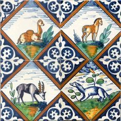 Dutch animal tile