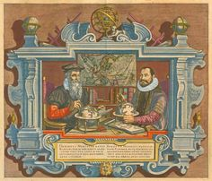 Double portrait of G. Mercator and J. Hondius    Sanderus Antique Maps