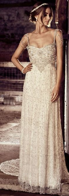 Featured Wedding Dress: Anna Campbell; Wedding dress idea.