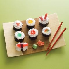 How to: CAKE sushi. Cute!