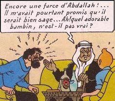 Chez l'émir Ben Kalish Ezab à Hasch El Hemm - Tintin au pays de l'or noir - Tintin - Hergé