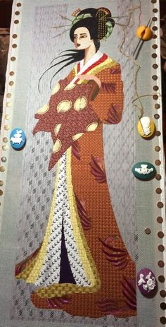 geisha needlepoint