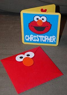 Elmo Pop Up Card