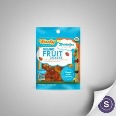 Organic and Non-GMO fruit snack made with real fruit juice and nothing artificial. Each serving contains 100% DV of Vitamin C. These snacks are gluten-free, allergen-free, vegan (contain no gelatin) and are fat-free.