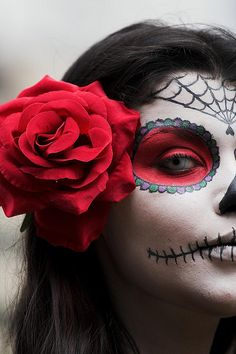 dia de los muertos with white contact