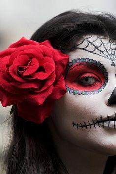 dia de los muertos with white contact