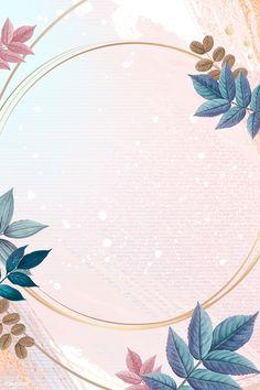 Blank round golden frame decorated with colorful leaves vector | free image by rawpixel.com / Adj Flower Background Wallpaper, Framed Wallpaper, Leaf Background, Flower Backgrounds, Background Patterns, Wallpaper Backgrounds, Iphone Wallpaper, Instagram Background, Leaf Illustration