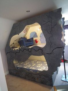 Dinosaur cave Bed by DreamCraft furniture www.facebook.com/dreamcraftfurniture