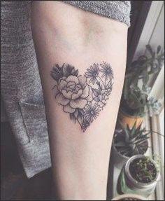 32 Sleeve Tattoos ideas for Women | Heart shapes, Tattoo and Shapes #flower #tattoo #tattooideas #forwomen