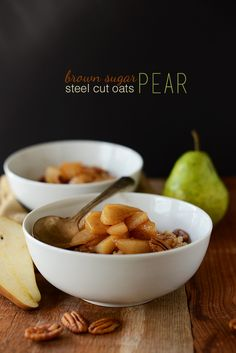 Steel Cut Oats with Caramelized Pears