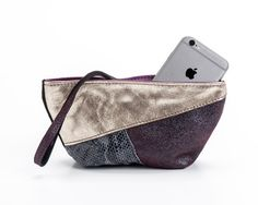Small evening purse-Wristlet purse-Unique leather by Nutopa