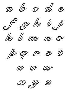 Cursive Alphabet Coloring Pages