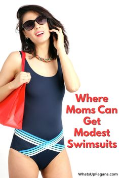 Fabulous list of 11 different retailers and what modest swimsuits and modest swimwear they have for women and moms! If you want to be more covered poolside, this is a fabulous list and so many are SO CUTE too! Fashionable yet covered. Four Kids, Modest Swimsuits, Work From Home Moms, Lds, Lifestyle Blog, Fashion Forward, Tankini, One Piece, Sewing