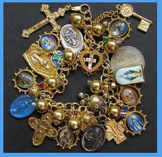 Religious Medals Charm Bracelet