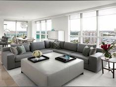 Wohnzimmer Grau Mbel Blumen Weisser Teppich