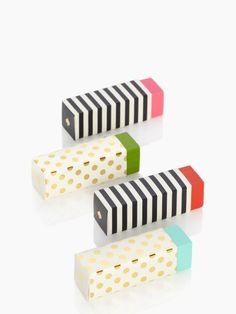 Patterned Erases by Kate Spade New York. The prettiest erasers ever!