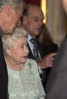 Queen Elizabeth II and Prince Philip attends a reception to mark the launch of the Christ Church Cathedral Music Trust at St James's Palace on March 4, 2014.