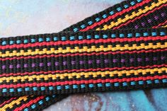 Your place to buy and sell all things handmade Inkle Weaving Patterns, Loom Weaving, Loom Patterns, Card Weaving, Tablet Weaving, Inkle Loom, Weaving Process, Braids With Weave, Woven Belt