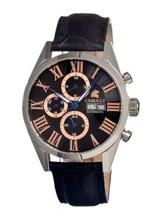 Carucci Silver Stainless-Steel Automatic Men's Watch