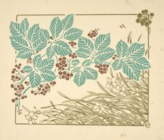 [Abstract design based on leaves, grass, and flowers.] - ID: 1553744 - NYPL Digital Gallery