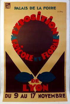 """Affiche """"Exposition agricole et florale"""" - circa 1935"""