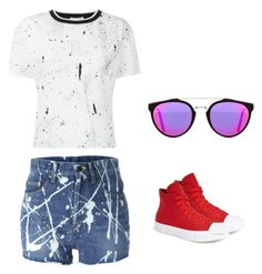 """""""Untitled #994"""" by abbey-ceee ❤ liked on Polyvore featuring Opening Ceremony, Yves Saint Laurent, Converse, RetroSuperFuture, women's clothing, women's fashion, women, female, woman and misses"""