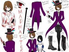 Mad Hatter design sheet [Sora] by CNeko-chan.deviantart.com on @DeviantArt