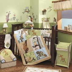 Enchanted Forest 5 Piece Baby Crib Bedding Set by Lambs & Ivy