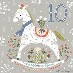 ❄☃ Seasons ❄☃❄ Winter Wonderland ☃❄ Day 10 - A pretty rocking horse xx