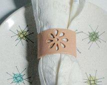 Set of 2 Custom Leather Napkin Rings