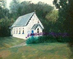 Church near Akaroa.  Oil on canvas board 30x25cm.