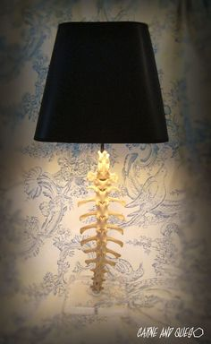 bone lamp: this will be a resource of inspiration for the vertebrae sculptural lamp I am in the process of making.