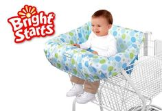 The Bright Starts Comfort & Harmony Cozy Cart Cover is made of plush, padded fabrics for supreme comfort while protecting baby from germs in shopping carts or restaurant high chairs.    More info: http://www.babysteals.com.au/steal/169/bright-starts-comfort-cozy-cart-cover