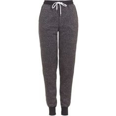 TopShop Tall Neppy Joggers (105 BRL) ❤ liked on Polyvore featuring activewear, activewear pants, pants, bottoms, charcoal and tall activewear