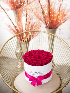 Don't be afraid to add some bold color to your space this Valentine's Day with our long-lasting arrangements in all your favorite colors! Shop yours here! Metallic Colors, Bold Colors, Million Roses, Hot Pink Roses, Preserved Roses, White Box, Classic Collection, Favorite Color, Valentines