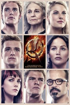 Catching Fire: Finnick, Mags, Cashmere, Peeta, Katniss, Johanna, Gloss, and Beetee